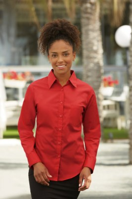 FRUIT OF THE LOOM LADY LONG SLEEVE POPLIN