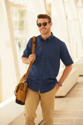 Fruit Of The Loom MEN SHORT SLEEVE OXFORD