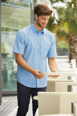 Fruit Of The Loom MEN SHORT SLEEVE POPLIN