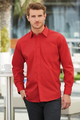 Fruit Of The Loom MEN LONG SLEEVE POPLIN