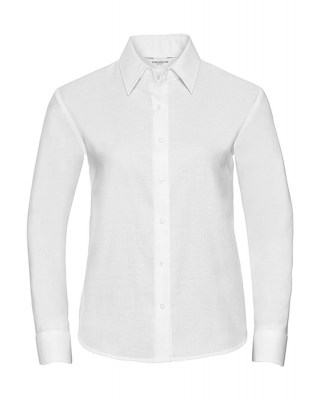 ΛΕΥΚΟ RUSSELL Ladies Oxford Blouse LS