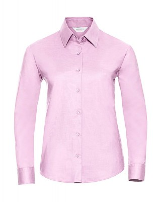 ΡΟΖ RUSSELL Ladies Oxford Blouse LS