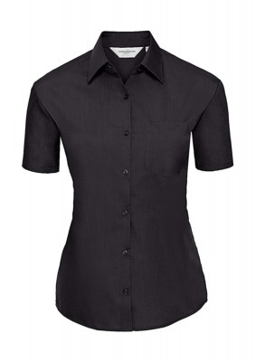 ΜΑΥΡΟ RUSSELL Ladies Poplin Shirt