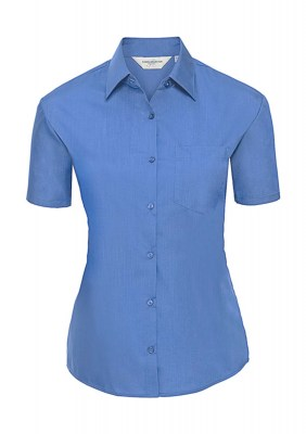 CORPORATE BLUE RUSSELL Ladies Poplin Shirt