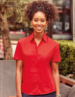 RUSSELL Ladies Poplin Shirt