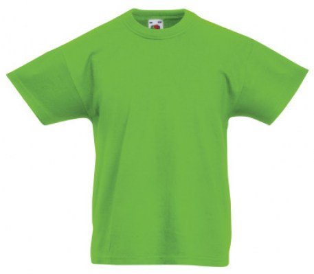LIME FRUIT OF THE LOOM Original T Kids