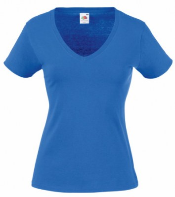 ΜΠΛΕ ΡΟΥΑ FRUIT OF THE LOOM LADY-FIT VALUEWEIGHT V-NECK T