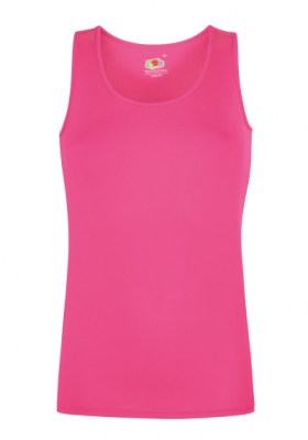 ΦΟΥΞΙΑ FRUIT OF THE LOOM Performance Vest Lady-Fit