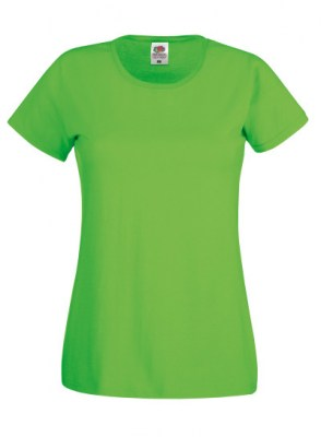 LIME FRUIT OF THE LOOM Original T Lady-Fit