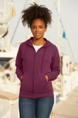FRUIT OF THE LOOM Ladies Lightweight Hooded Sweat Jacket. Γυναικεία ζακέτα  φούτερ ... e32d4e56583